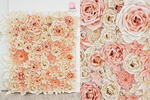 Blumenwand Hochzeitsdekor