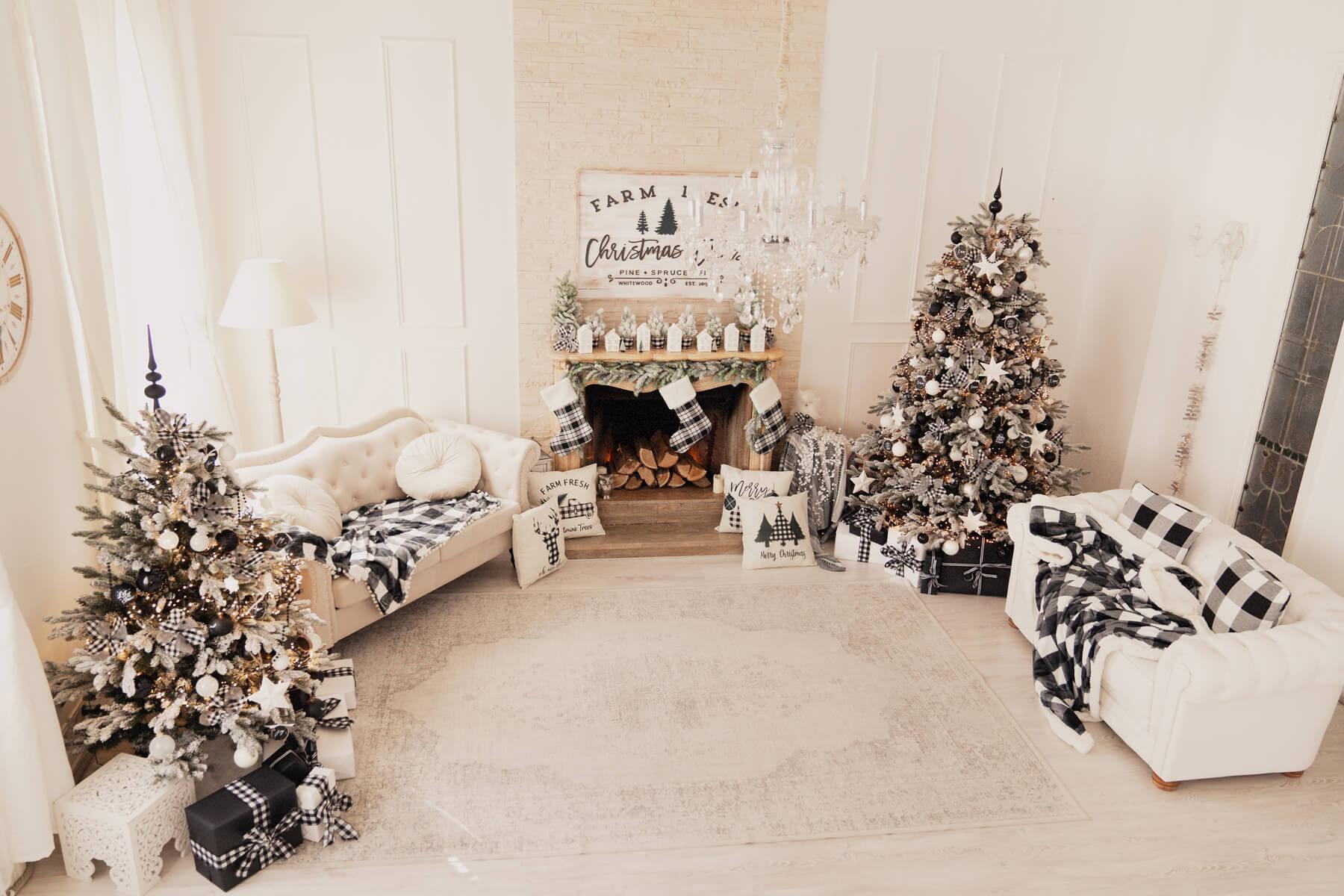 Schwarz Weiss Weihnachten